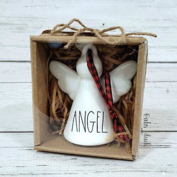 Rae Dunn Angel Christmas Tree Ornament